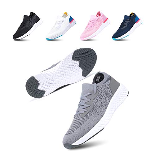 Zapatillas de Deportivas Mujeres Zapatos Correr Hombre Sneakers Cordones Plataforma Running Gimnasia...