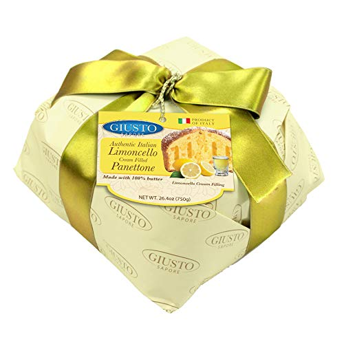 Giusto Sapore Italian Panettone Premium Lemon Limoncello Gourmet Bread 26.4 Ounce - Traditional Dessert - Imported from Italy and Family Owned