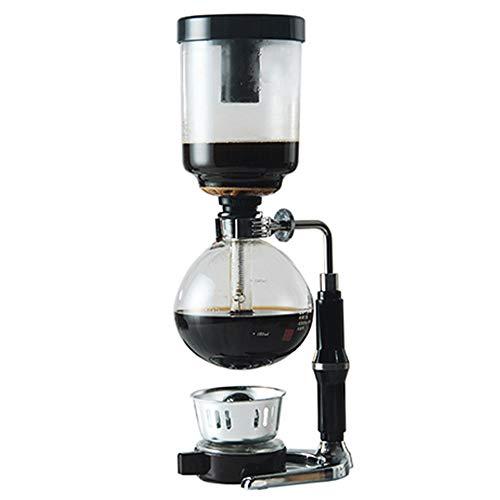 Lpinvin Kaffeesiphon Syphon Kaffeemaschine Haushaltsglas Syphon Pot Syphon Brewing Coffee Siphon Filter Kaffeemaschine (Farbe : Black, Size : 38x14cm)