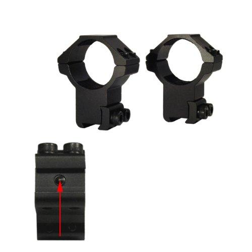 LENSOLUX Montage 2-Fach für Zielfernrohr 25,4 mm auf Prismenschiene - die Beste Verbindung zwischen Waffe und Optik - Höhe 21 mm