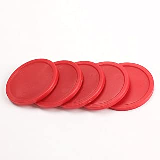 Glamorway Pack of 5 Red 2-inch Mini Air Hockey Table Pucks