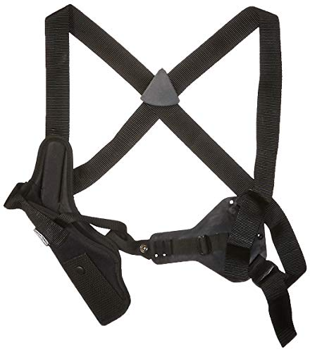 Uncle Mike's Black Kodra Nylon Sidekick Vertical Shoulder Holster (Size 15, Right-Hand)