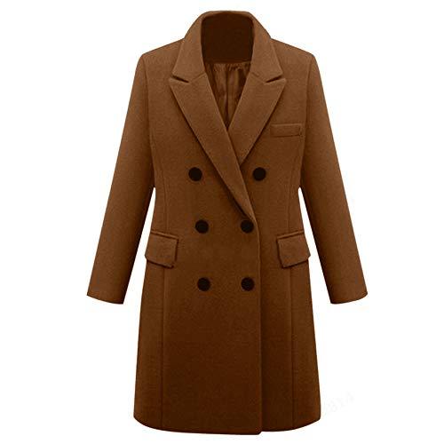 NOBRAND Otoño e Invierno Nueva Gabardina de Gran tamaño Europea y Americana Abrigo de Lana de Mujer de Longitud Media Abrigo de Lana
