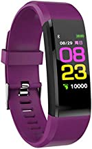 YTGOOD Smart Wristband Watch Waterproof Medication Reminder Fitness Tracker Pedometer Sport Bracelet Purple