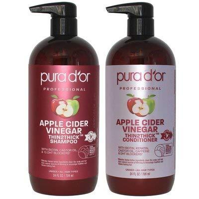 Apple Cider Vinegar Shampoo & Conditioner Set 48FL OZ (2 x 24OZ)