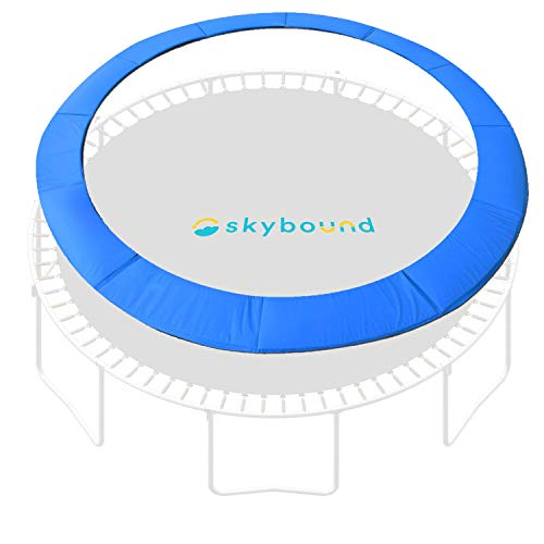 SkyBound 12 Foot Blue Trampoline Safety Pad - Spring Cover Fits Up to 7 Inch Springs - Standard