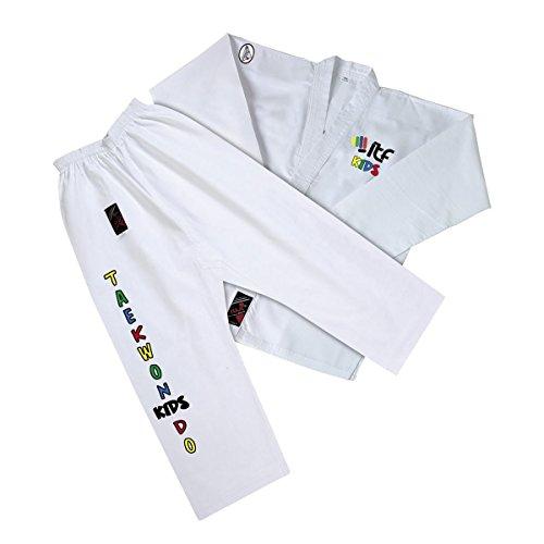 Fuji Mae - Dobok ITF para niños, color blanco, talla 000 - 110CM