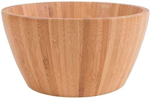 KS Cuenco de bambú de Alto Grado ecológico de 4 Pulgadas de Color Madera, Ensalada, Cereal, Sopa de Fideos, Postre, agitado, Cuenco para Servir Disponible para niños