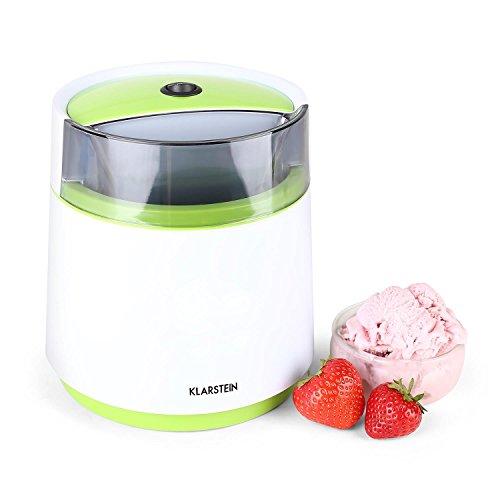 Klarstein Bacio Verde gelatiera macchina per il gelato sorbetteria compatta (termos capienza 0,8 ltri, contenitore doppio fondo, ricettario) - verde