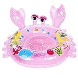 Baby Pool Float Kleinkinder Schwimmen Float aufblasbare Schwimmring Boot niedlichen Cartoon Tier Krabben Ring(Rosa)