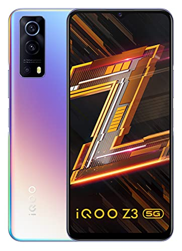 iQOO Z3 5G (Cyber Blue, 8GB RAM, 128GB Storage) | India's First SD 768G 5G Processor | 55W FlashCharge | Upto 9 Months No Cost EMI | 6 Months Free Screen Replacement | Rs.1500 Coupon Discount