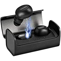 Goswer Mini Earbuds Bluetooth Stereo Earphones with Mic and Charging Case