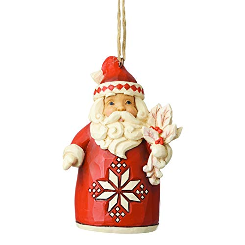 Jim Shore Heartwood Creek Sospensione Babbo Natale in Natale Nordico, 9 cm