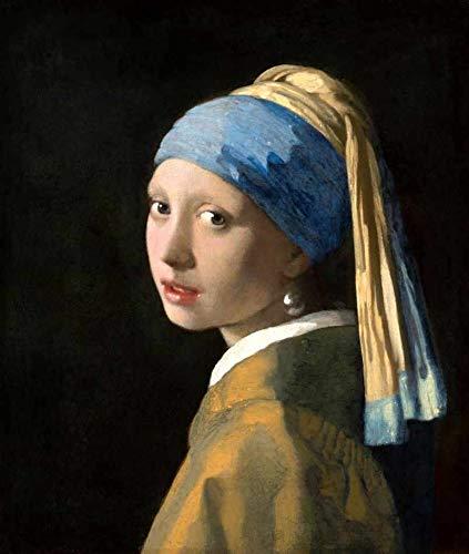 Menina com Brinco de Pérola de Johannes Vermeer - 30x35 - Tela Canvas Para Quadro