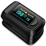 Pulse Oximeter fingertip Blood Oxygen Saturation Monitor,Heart Rate and Fast Spo2 Reading Oxygen Meter with OLED Screen 2 X AAA Batteries
