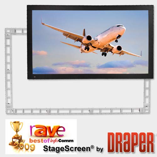 Purchase Draper 383567 StageScreen (Black) - 330(162 x 288) - HDTV [16:9] - CineFlex CH1200V