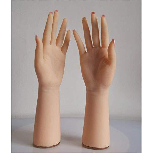 SLRMKKK 1 Paar Soft Silicone Lifesize Weibliche Hand Silikon Handmodell Die Finger können mit sehr klarer Textur und realistischer Sicht gebogen Werden. Weibliche Silikon Lebensechte Hand, Eine Linke