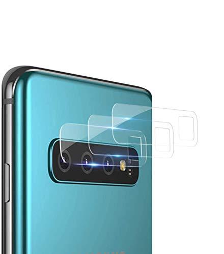 NUOCHENG Kamera Panzerglas Schutzfolie für Samsung Galaxy S10/S10 Plus, [3 Stück] [9H Härte] [HD Transparenz] [Anti-Kratzer] [Anti-Staub] Kameraschutzhülle Folie für Samsung S10/S10 Plus