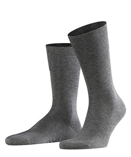 FALKE Herren Socken Tiago - 95{27c22bc2d94b0716f24e255e563b2805d2994a5b96abc7798f7af2c78183be10} Baumwolle, 1 Paar, Grau (Light Grey Melange 3390), Größe: 43-44