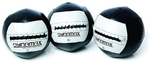 Dynamax Medicinball 8 kg Official Crossfit Wall Ball Fitness Ball Gewichtsball Trainingsball mit griffiger Oberfläche incl Core Power Workout Poster and App Workouts