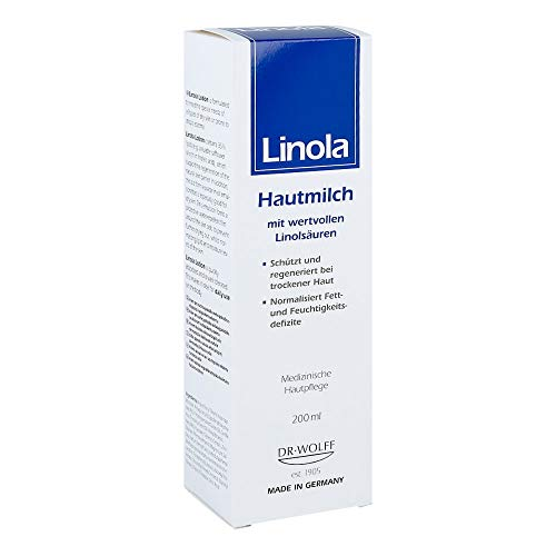 Linola Hautmilch für trockene und beanspruchte Haut, 200 ml