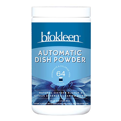 Biokleen Automatic Dishwashing Powder Detergent, Concentrated, Phosphate & Chlorine Free, Eco-Friendly, Non-Toxic, Citrus Essence, 2 Pounds (Pack of 12)