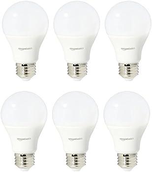 6-Pack AmazonBasics 75-Watt Equivalent Non-Dimmable LED Bulbs