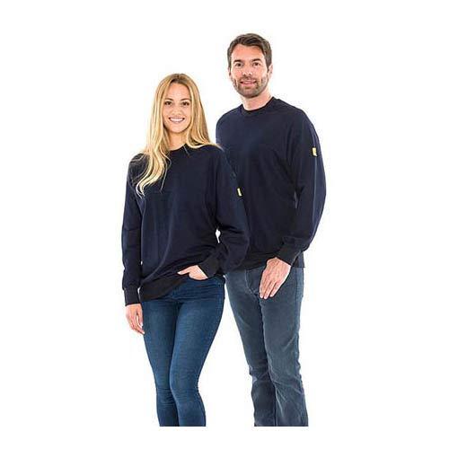 Safeguard SWS-THSS-NBXL-ROUND ESD-Sweatshirt, Rundhals, 280g/m, XL, Marineblau