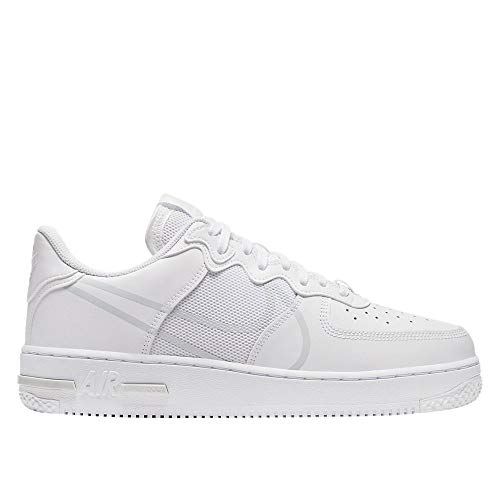 Nike Herren AIR Force 1 React Basketballschuh, White/Pure Platinum, 43 EU