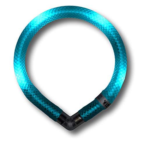 LEUCHTIE® Leuchthalsband Mini türkis Größe 32,5 I LED Halsband extra für kleine Hunde I wasserdicht I enorm hell