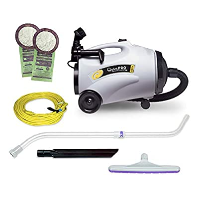 ProTeam Commercial Canister Vacuum Cleaner, QuietPro CN Vacuum Canister with HEPA Media Filtration and Xover Telescoping Wand Tool Kit, 6 Quart, Corded