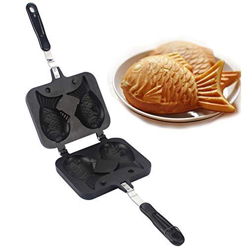 Eamplest Taiyaki Fisch Kuchen Form Backform Kuchenform, Fischform Cake Maker Knusperpfannen Form,Taiyaki Maker Japanisches Gebäck in Form eines Fisches