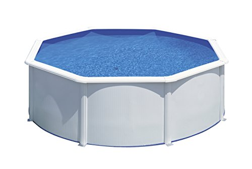 Gre KITPR353- Piscina Bora Bora desmontable redonda de acero color blanco Ø350x90 cm