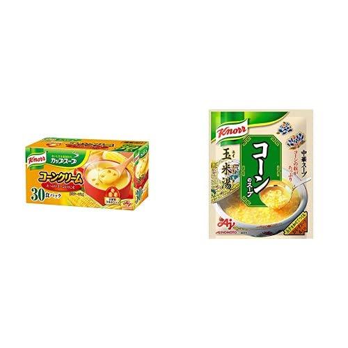 【セット買い】クノール カップスープ コーンクリーム 30袋入 + 味の素 クノール 中華スープ コーンのスープ 64g×5個