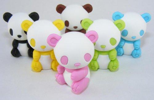 Iwako Zoo animaux Gommes japonaises Panda (6 couleurs / pcs)