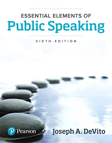 Essential Elements of Public Speaking (6th Edition)