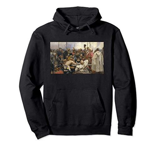 Respuesta del cuadro cosaco de Zaporozhian de Repin Sudadera con Capucha