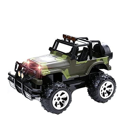 JJINPIXIU Coche de control remoto a escala 1:14 de nivel de juguete, tarjeta de coche de control remoto todoterreno de juguete eléctrico, coche con seguimiento que se puede cargar, niños y adultos, ju