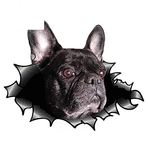 A/X Etiqueta engomada del Coche del Perro del Barro Amasado de 13cm calcomanía del Metal Rasgado calcomanías del Parachoques del Coche de la Ventana 3D Vinilo Reflectante