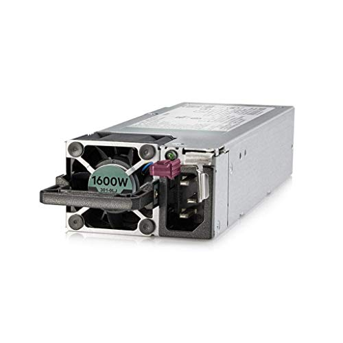 HP Enterprise 1600-watt Flex-Slot Platinum Hot-Plug Power Supply, 830272-B21 (Renewed)