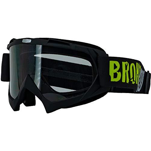 Broken Head MX-2 Goggle Schwarz - Motorrad-Brille Für Motocross, Enduro, Downhill, Offroad - Mit UV-Schutz