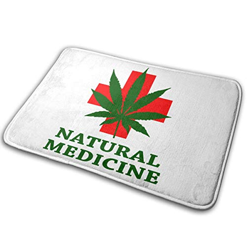Nature Weed - Felpudo absorbente antideslizante para baño, exterior o interior, 40 x 60 cm