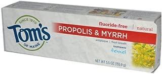 Tom's Of Maine Propolis and Myrrh Toothpaste Fennel - 5.5 Oz - Case of 6