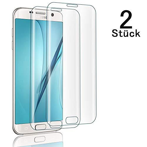 UNIY [2 Stück] Schutzfolie für Samsung Galaxy S7 Edge Panzerglas, 9H Härte Anti-Kratzer, HD Bläschenfrei, 2.5D Runde Kante Anti-Öl, Displayschutzfolie Samsung S7 Edge Panzerglasfolie