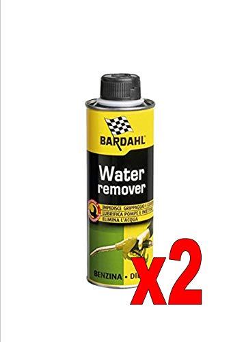 Bardahl Water Remover Additifs élimine l'eau dans le carburant, pour moteurs essence diesel de 300 ml, 2 flacons
