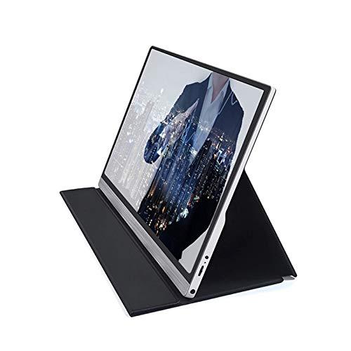 GFHJ1201 Monitor portátil de 15.6 Pulgadas, Monitor Externo 4K HDR, Aluminio de Aluminio Portátil IPS Monitor de Juego Monitor de Pantalla móvil con Tipo C, HDMI (Color : Black)