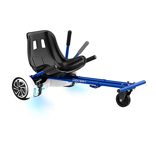 HOVER-1 HY-H1-BGY-BLU - Accesorio para Transformar el Patinete Hoverboard en Go-Kart, Azul, 58,4 x 22,8 x 48,2 cm