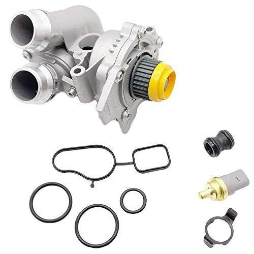 Aluminum Water Pump w/Sensor for Audi A3 A4 TT VW Tiguan Jetta Golf GTI Eos Beetle CC 2.0T TSI
