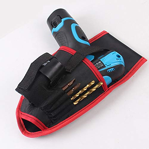 Tool Parts Best Drill Holder Tool Pouch For 12V Drill Screwdriver Waist Tool Belt Bag Cordless Tool Oxford