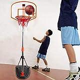 ZYMQ 97-170cm Soportes de Baloncesto Altura Ajustable Niños Baloncesto Baloncesto Hoop Entrenamiento Set Baloncesto para niños Exterior/Práctica de Interiores